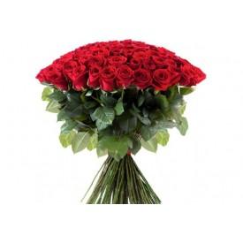 101 роза Фридом высота 80 сантиметров