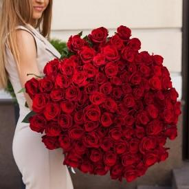 101 роза Фридом 60 см.