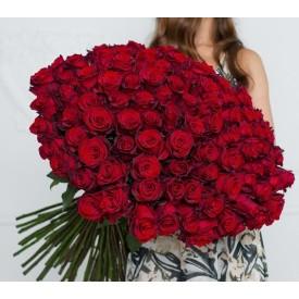 101 роза Престиж 80 см