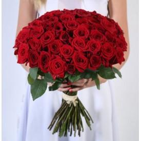 101 красная роза 50см.